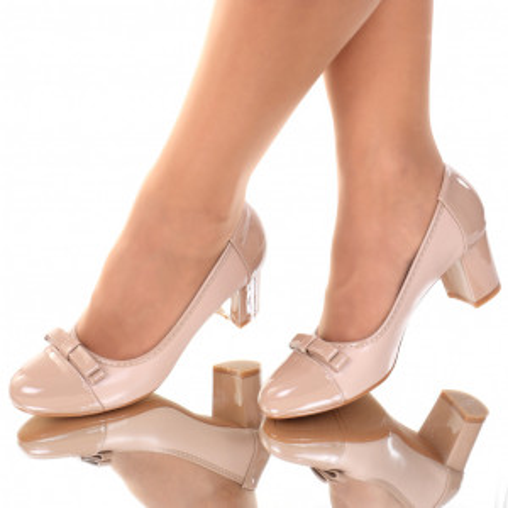 Pantofi piele ecologica bej Aresia