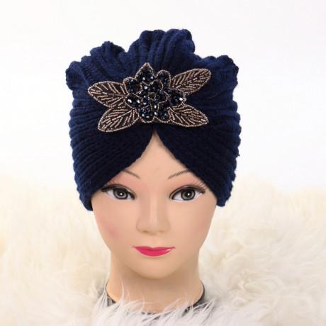 Turban cu model bleumarin Deli