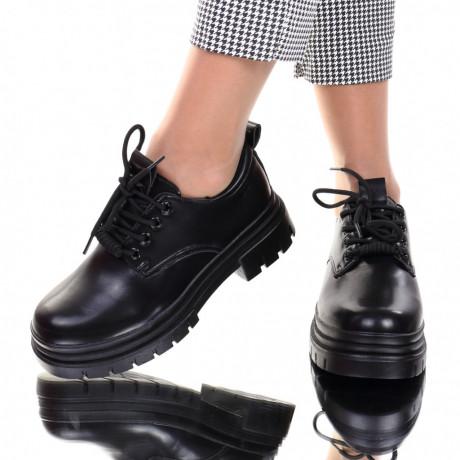 Pantofi piele ecologica negri Diandra