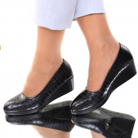 Pantofi piele ecologica negri Felicia