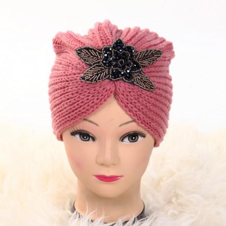 Turban cu model roz Deli