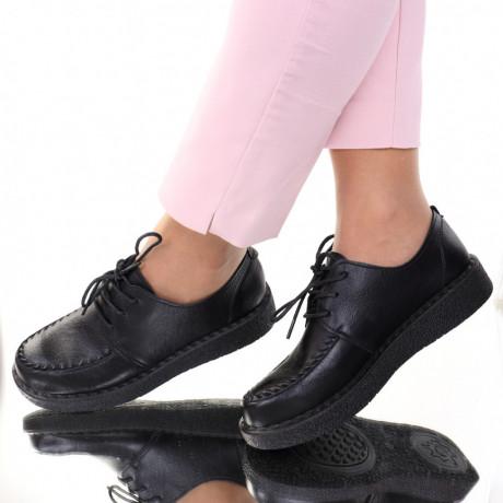 Pantofi piele ecologica negri Eta