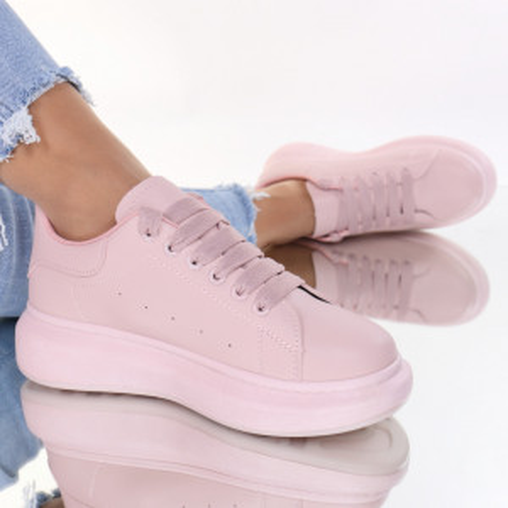 Adidasi piele ecologica roz Tenera