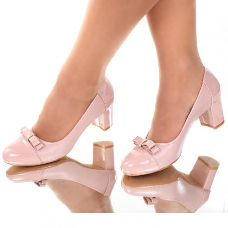Pantofi piele ecologica nude Aresia
