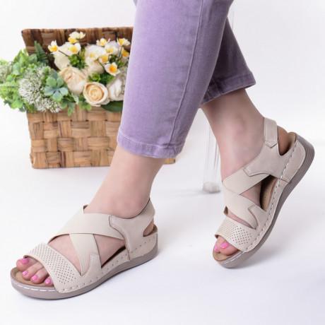 Sandale bej piele ecologica Aliza