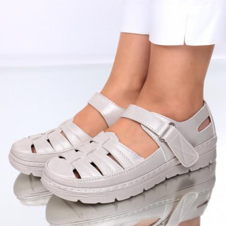 Pantofi piele ecologica aurii Sorela