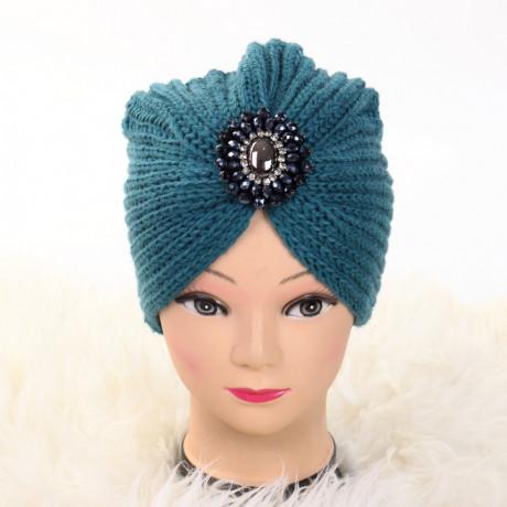Turban cu model turcoaz Ovo
