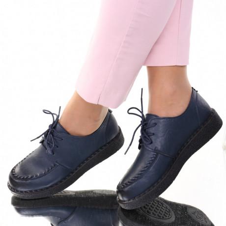 Pantofi piele ecologica bleumarin Eta