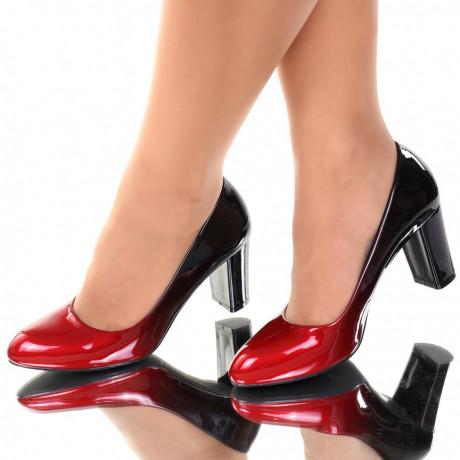 Pantofi piele ecologica rosii Carla