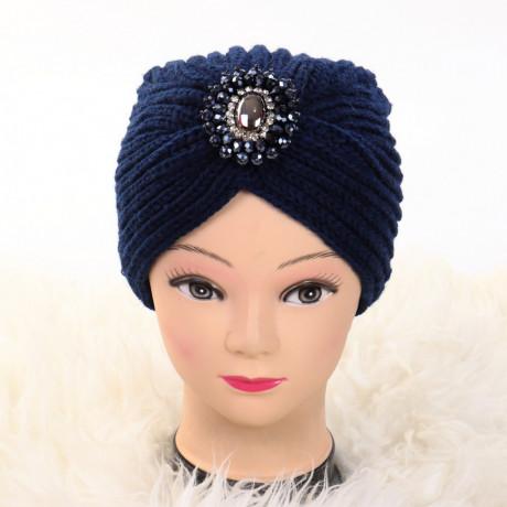 Turban cu model albastru Ovo