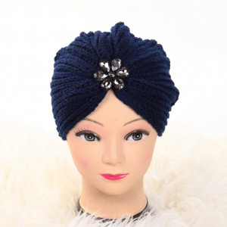 Turban cu model albastru Lien