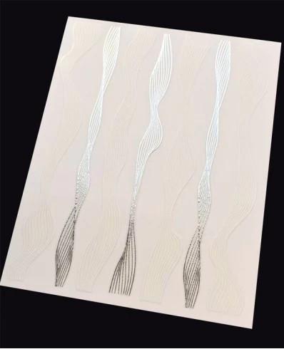 Banda Spiral White-Silver