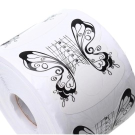 Sabloane Fluture Alb 100buc