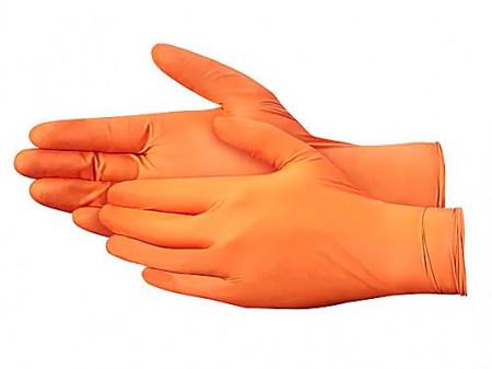 Manusi Nitril Orange Powder Free marimea S - 5 perechi