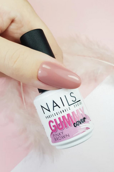 NAILS Gummy Cover Pinky Brown 15ml