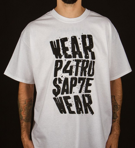 Poze Tricou – Patru Sapte Wear (alb)