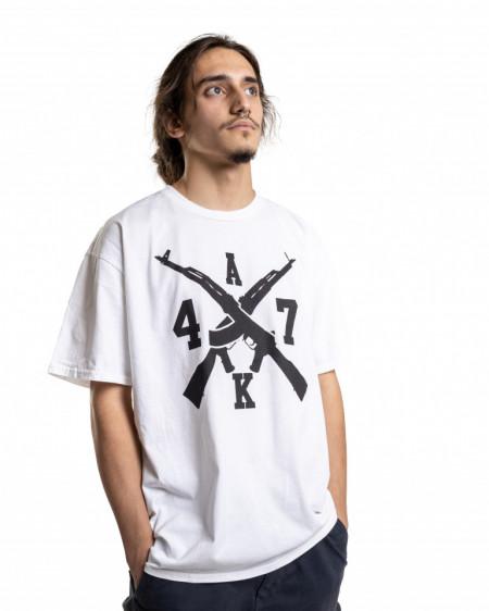 Tricou – Dragonu' AK 47 (alb)