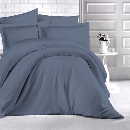 Lenjerie de pat damasc HORECA (GROS) - ANTRACIT Două persoane