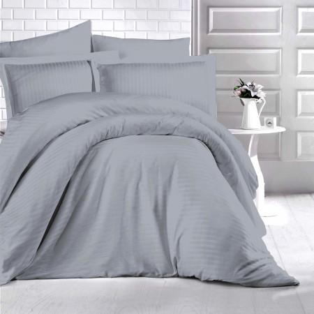 Lenjerie de pat damasc HORECA (GROS) - GRI O persoană