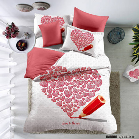 Lenjerie de pat poplin - două persoane (QY-1410)