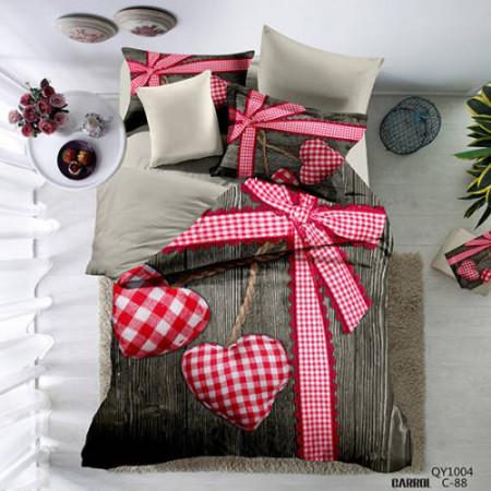 Lenjerie de pat poplin - două persoane (QY-1004)