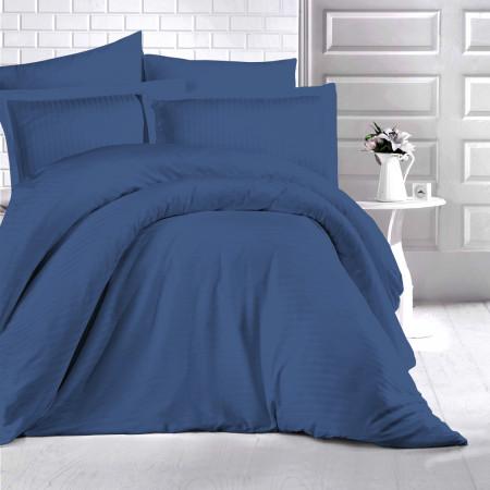 Lenjerie de pat damasc HORECA (GROS) - LACIVERT O persoană