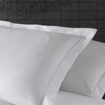 Lenjerie de pat damasc linear - VALERIA - dublu satinat - o persoană - disponibil dunga 1cm și 3 cm
