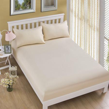 Husa de pat tricot cu inaltimea standard de 25cm (BEJ) 160x200cm