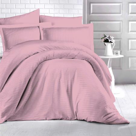 Lenjerie de pat damasc HORECA (GROS) - PINK O persoană