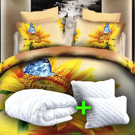 PACHET PROMO LENJERIE PAT DIGITAL PRINT 3D + 2 PERNE + PILOTĂ (P3D39)