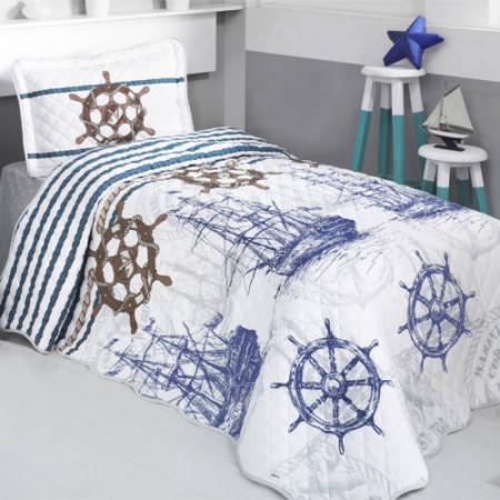 Cuvertură de pat Clasy-matlasată o persoană-MARINE TEK