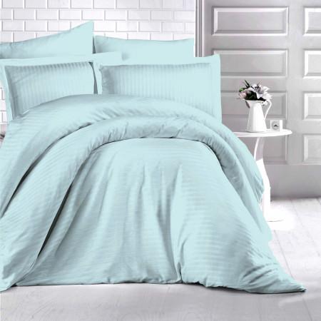 Lenjerie de pat damasc HORECA (GROS) - MINT O persoană