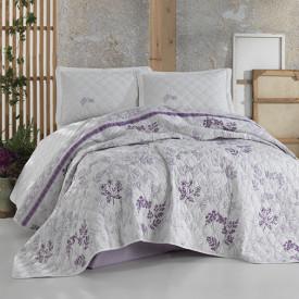 Cuvertură de pat Clasy-matlasată 2 persoane (LAVENDA)