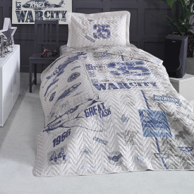 Cuvertură de pat Clasy-matlasată o persoană (TROYA)