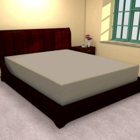 Husa de pat tricot cu inaltimea standard de 25cm (BEJ) 140x200cm