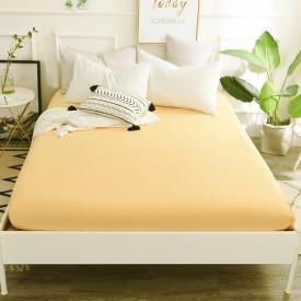 Husa de pat tricot cu inaltimea standard de 25cm (GALBEN) 90x200cm sau 100x200cm