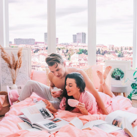 Lenjerie de pat damasc HORECA (GROS) - PUDRA Două persoane