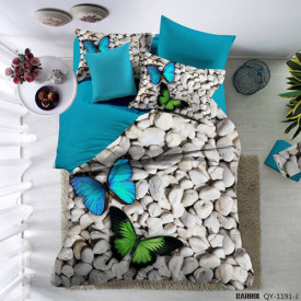 Lenjerie de pat poplin - două persoane (QY-1191)