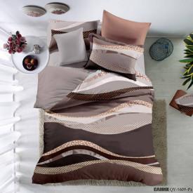 Lenjerie de pat poplin - două persoane (QY-1609)