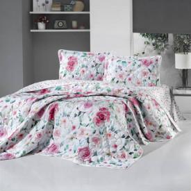 Cuvertură de pat Clasy-matlasată 2 persoane (RUZE)