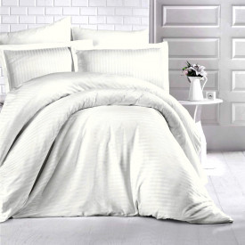Lenjerie de pat damasc HORECA (GROS) - CREM DESCHIS Două persoane