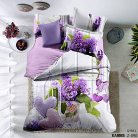 Lenjerie de pat poplin - două persoane (QY-831)