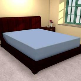 Husa de pat tricot cu inaltimea standard de 25cm (ALBASTRU) 160x200cm