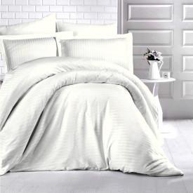 Lenjerie de pat damasc HORECA (GROS) - CREM DESCHIS O persoană