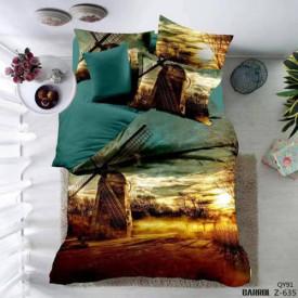 Lenjerie de pat poplin - două persoane (A-Z-635)