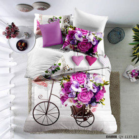 Lenjerie de pat poplin - două persoane (QY-1137)