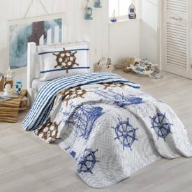 Cuvertură de pat Clasy-matlasată o persoană (MARINE)
