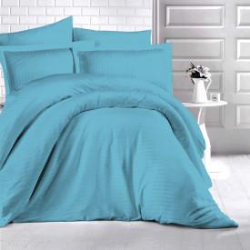 Lenjerie de pat damasc HORECA (GROS) - TURKUAZ Două persoane