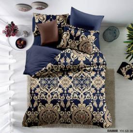 Lenjerie de pat poplin - două persoane (YH-68)