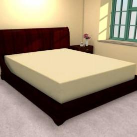 Husa de pat tricot cu inaltimea standard de 25cm (GALBEN) 140x200cm